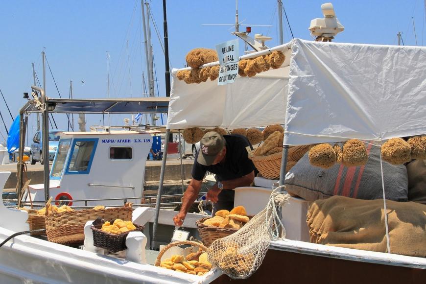 Genuine sea sponges at Chania Venetian Harbour