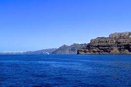 Entering Santorini's Caldera
