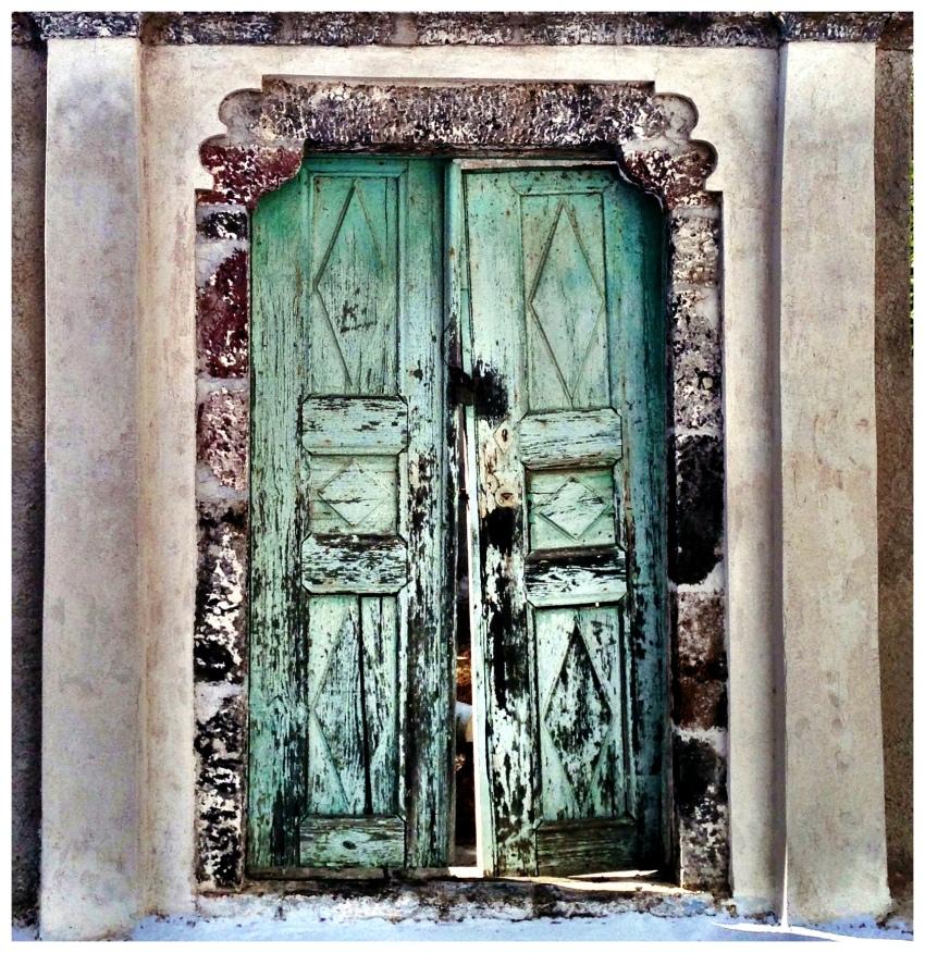 Old Door - Karterados - Santorini