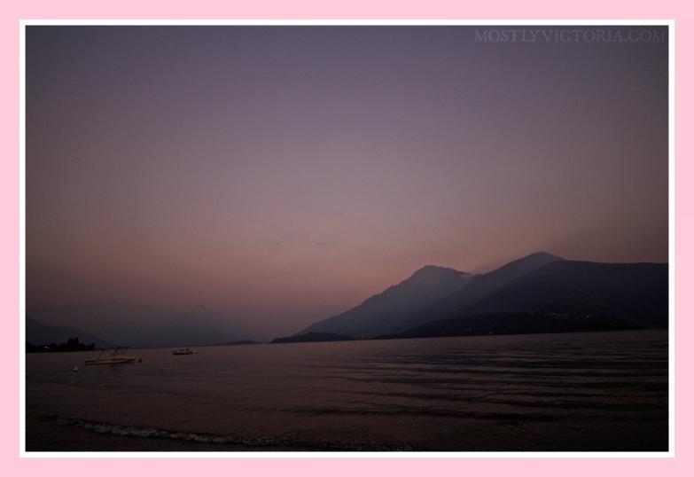 Dongo Lake Como Italy Sunset © MostlyVictoria