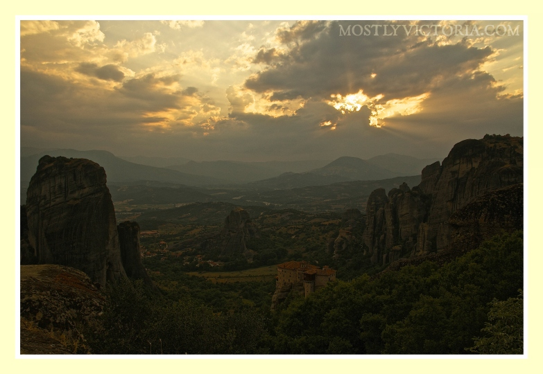 Meteora Valley Greece Sunset © MostlyVictoria
