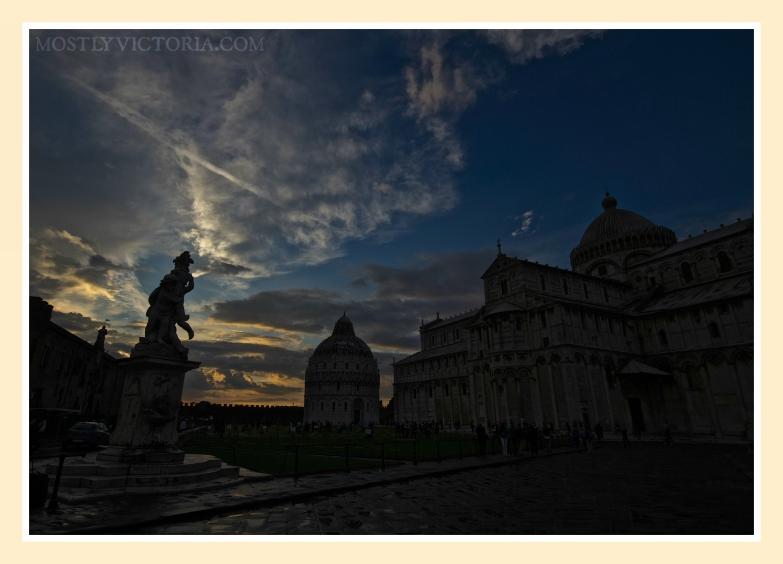 Pisa Campo Dei Miracoli Sunset © MostlyVictoria