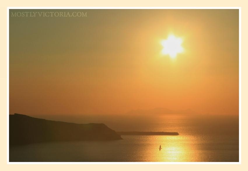 Santorini Sunset Cruise Mostly Victoria ©