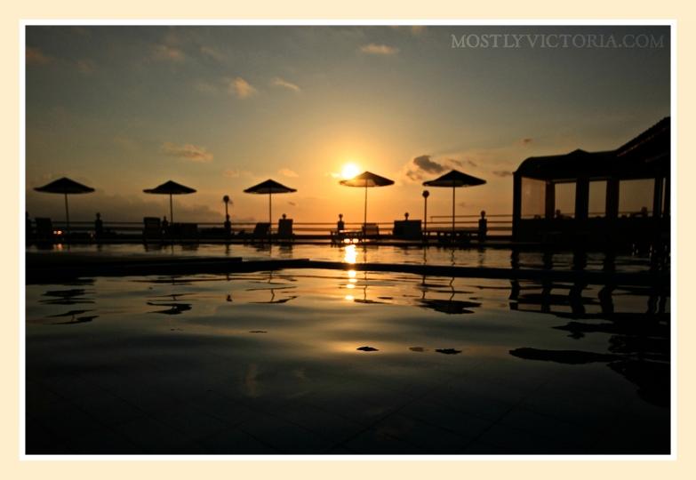 Stavros Crete Zorba's Hotel Pool Sunset © MostlyVictoria